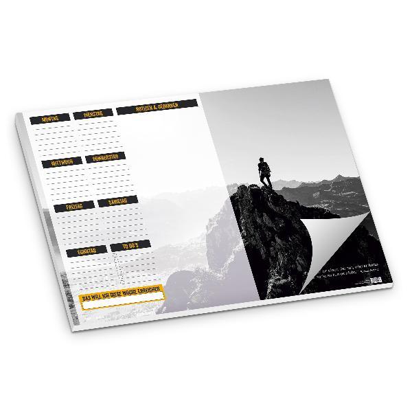 itenga Schreibtischunterlage Bergsteiger DIN A2 50 Blatt
