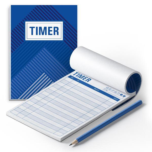 itenga 2x Timer Block DIN A6 50 Blatt Zeitplaner Zeiterf...
