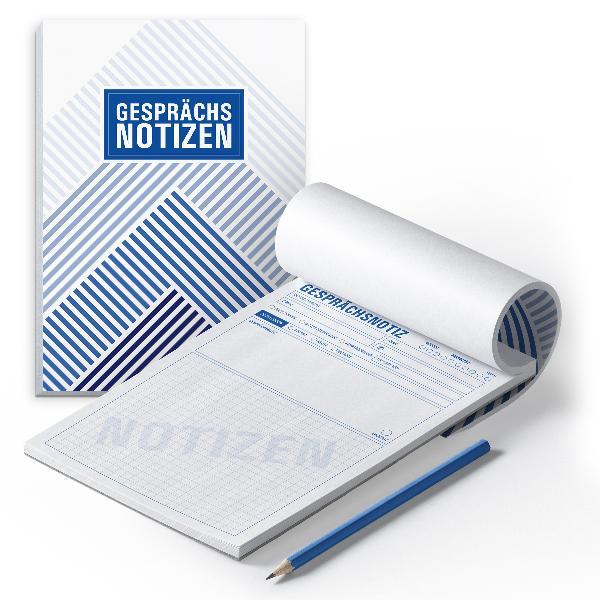 itenga 2x Notizblock Gesprächsnotizen DIN A5 50 Blatt