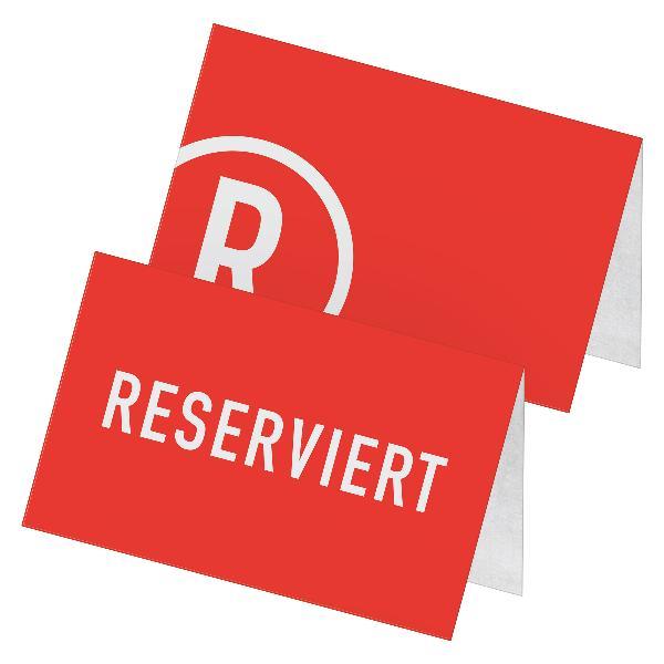itenga 24x Tischkarten Reserviert hellgrau rot Betonop...