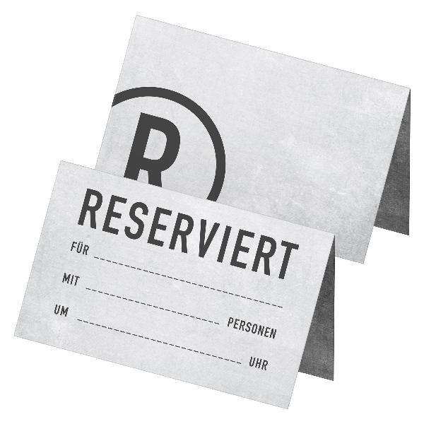 itenga 24x Tischkarten Reserviert grau Betonoptik mode...