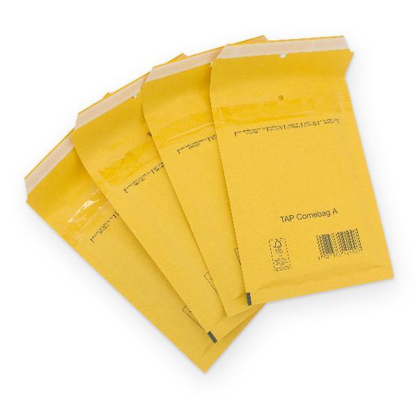 Luftpolstertasche Größe A / 1 braun - 200 Stück - 100x16...