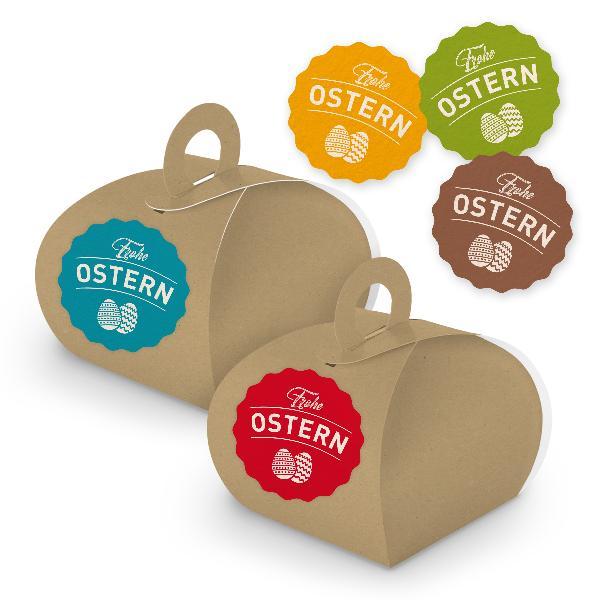 itenga SET Frohe Ostern 10x Geschenkschachtel mit Griff ...
