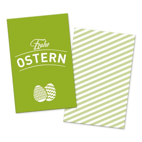 itenga 10x Geschenkkarte Frohe Ostern grün in Visitenk...