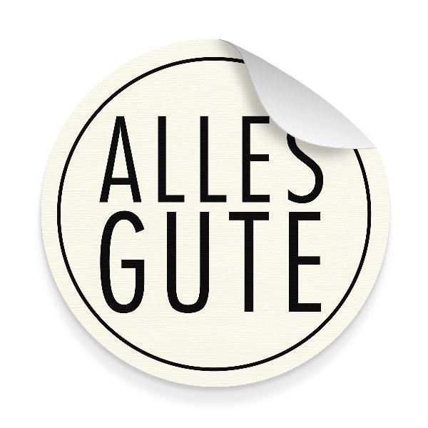 itenga 10x Aufkleber Sticker Alles Gute weiß schwarz 9...