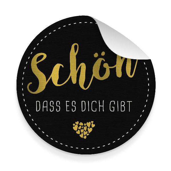 itenga 10x Aufkleber Sticker SCHÖN DASS ES DICH GIBT Sch...