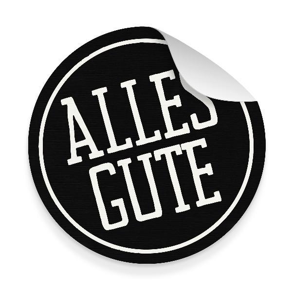 itenga 10x Aufkleber Sticker ALLES GUTE Schwarz Weiß 9,5...