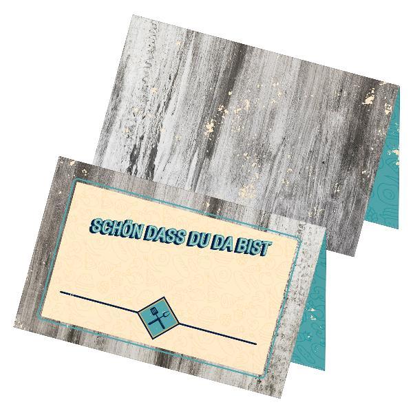 itenga 24x Tischkarten Platzkarten Schön dass du da bis...
