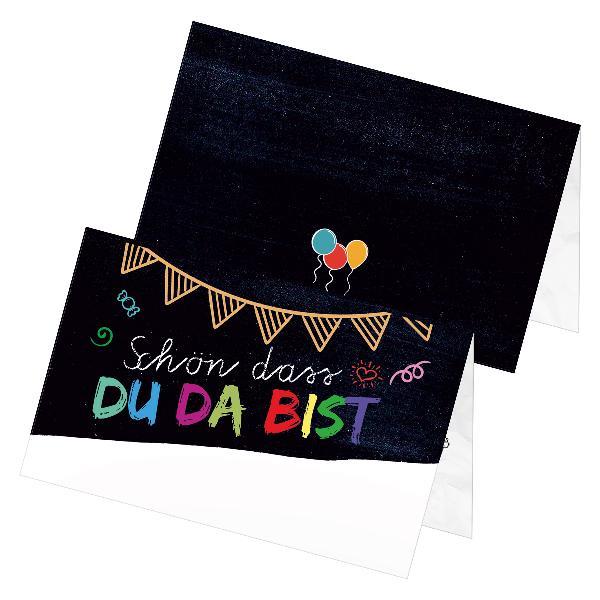 itenga 24x Tischkarten Platzkarten Tafel Geburtstag Sc...