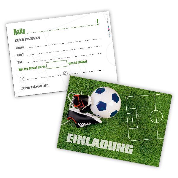 itenga 12 x Postkarte Einladung Fußball Geburtstag Kin...