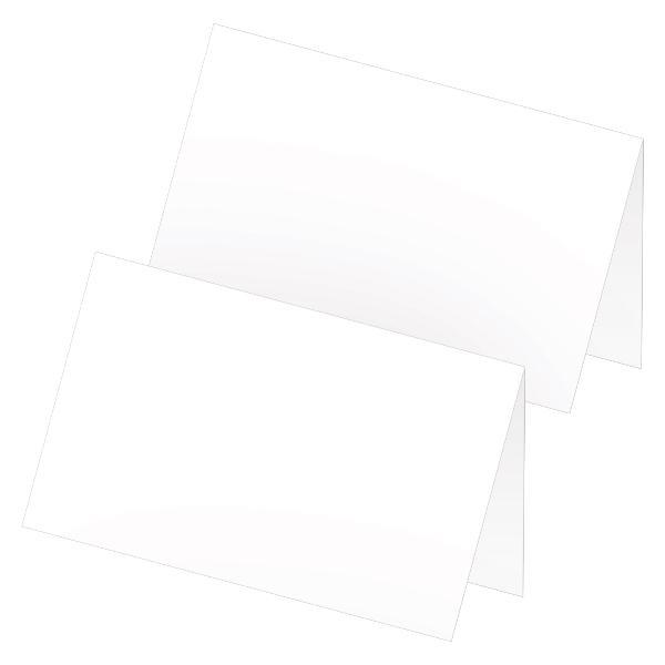 itenga 24x Tischkarten Neutral Weiß Blanko für alle Anlä...