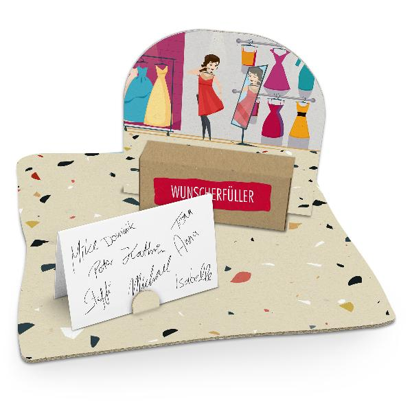 itenga Geldgeschenkverpackung Shopping (Motiv 50) mit Bo...