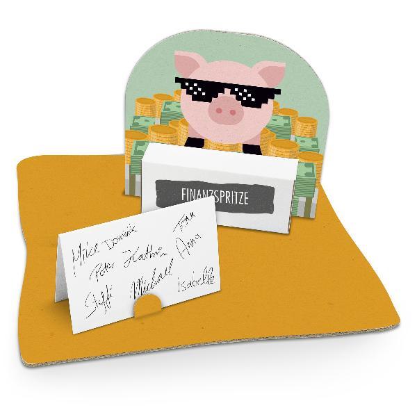itenga Geldgeschenkverpackung Sparschwein mit Sonnenbril...