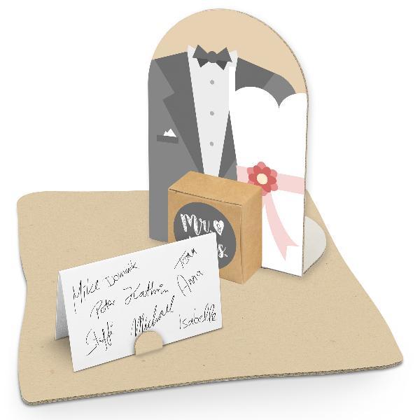 itenga Geldgeschenkverpackung Mr. & Mrs. Hochzeitspaar (...