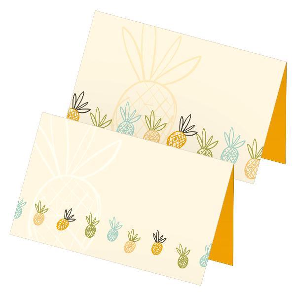 itenga 24x Tischkarten Platzkarten Ananas