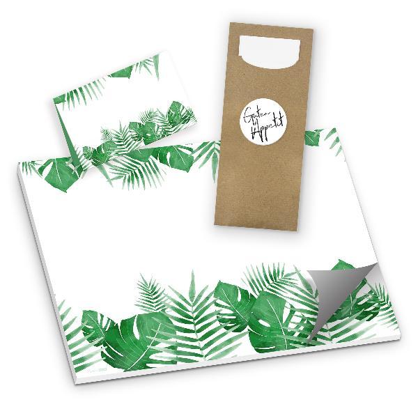 itenga Tischset 3-teilig Blätter