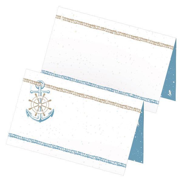 itenga 24x Tischkarten Platzkarten Maritim Anker zum A...
