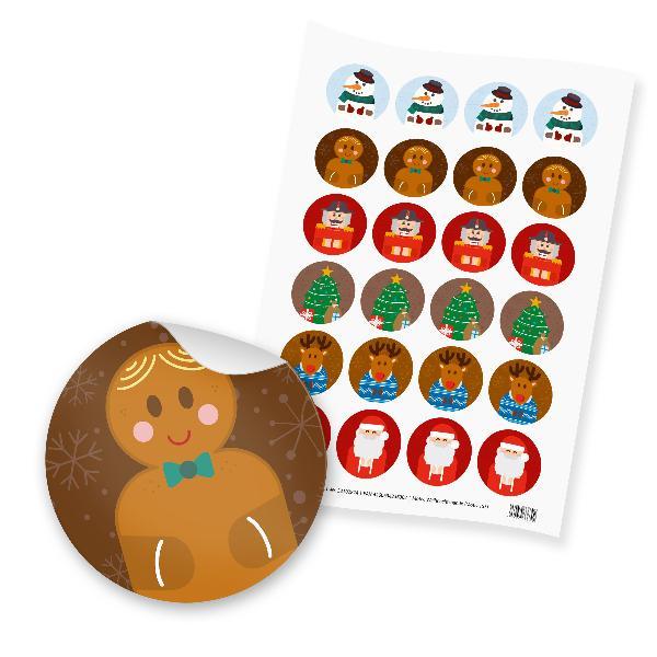 itenga 24x Sticker Weihnachtsbande (Motiv 153)