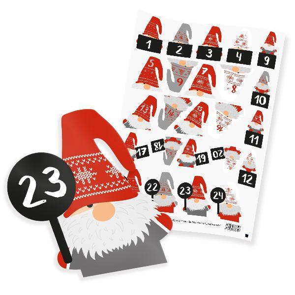 itenga 24x Sticker Wichtelbande Zahlen in Freiform