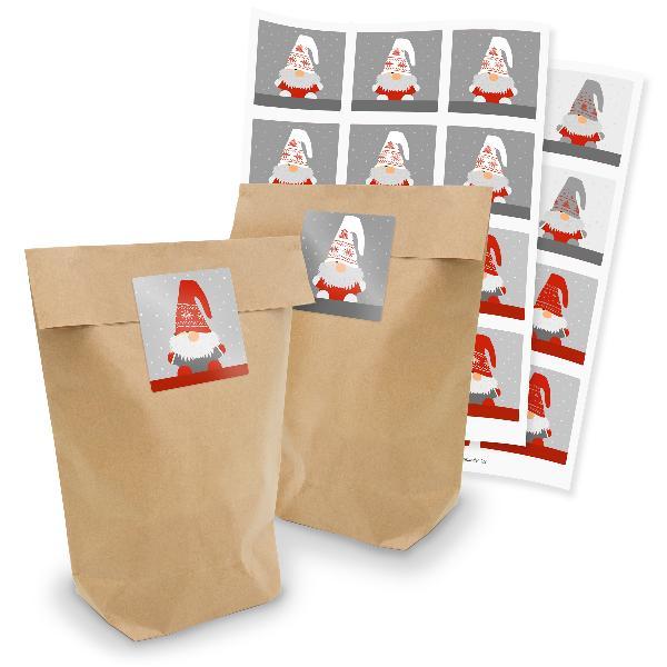 itenga Geschenktüten 24x Tüten + Sticker Wichtelbande qu...