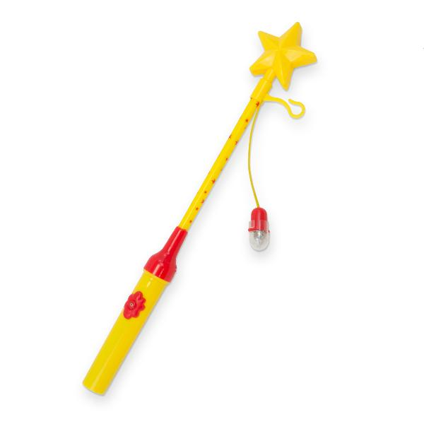 Laternenstab elektrisch 34cm Stern gelb rot