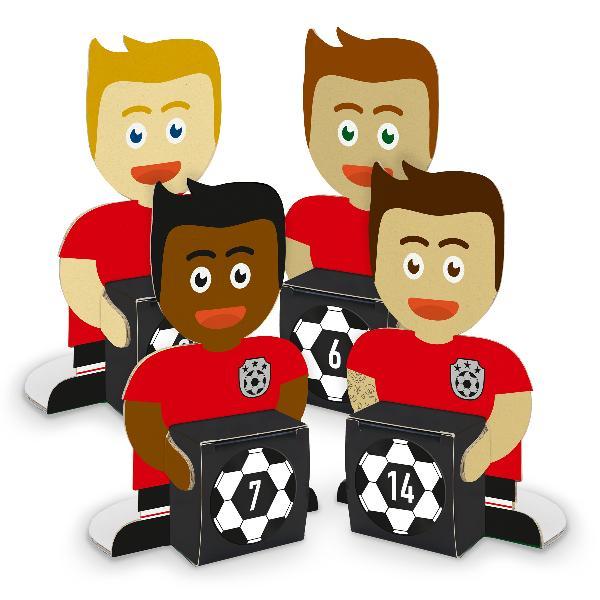 itenga Fußballbande Rot Schwarz Adventskalender 24 Figur...