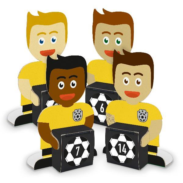 itenga Fußballbande Gelb Schwarz Adventskalender 24 Figu...
