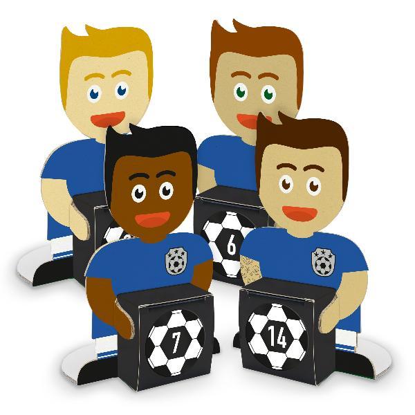 itenga Fußballbande Blau Weiß Adventskalender 24 Figuren...