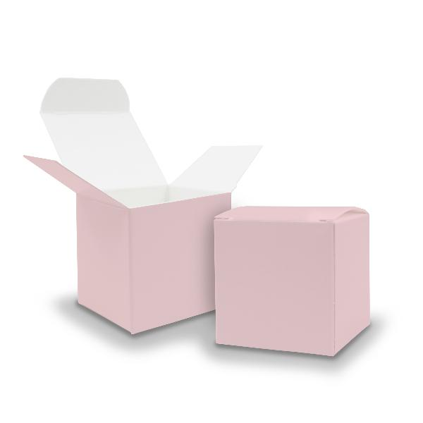 25x itenga Würfelbox aus Karton 6,5x6,5cm Rosa