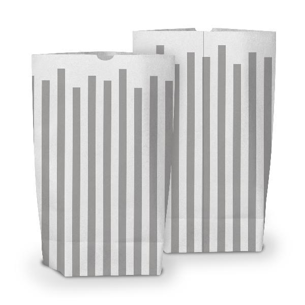 50x itenga Geschenktüte bedruckt 17x26cm Muster Streifen