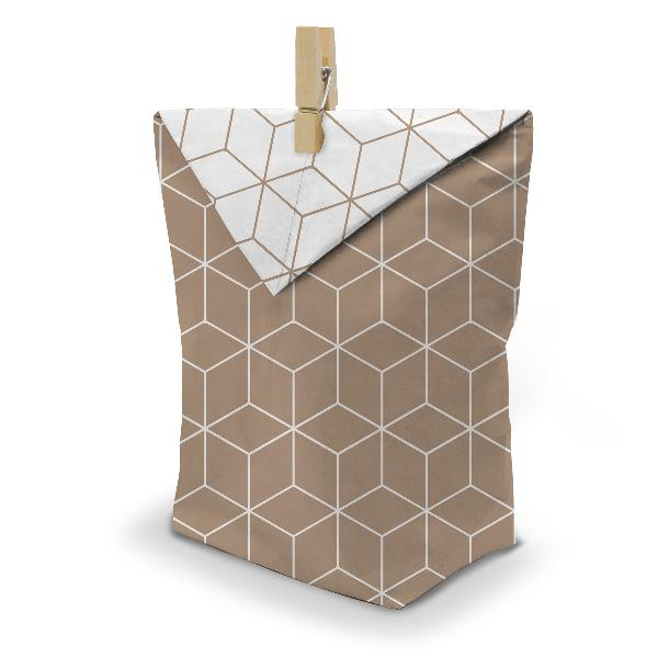 itenga 24x Geschenktüten 17x26cm Muster Geometrie + Klam...