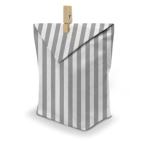 itenga 24x Geschenktüten 17x26 cm Muster Streifen + Klam...