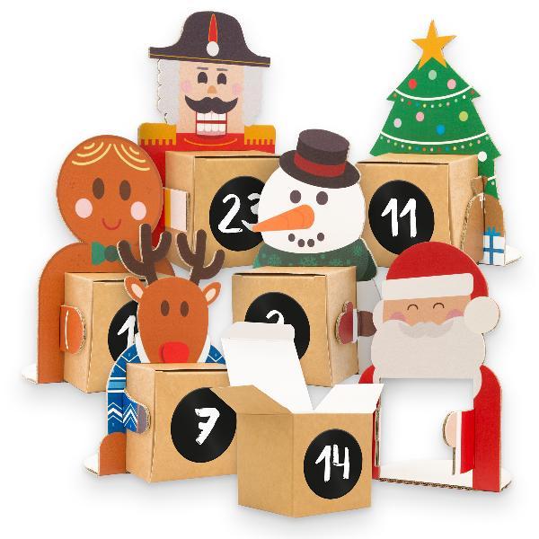 itenga Weihnachtsbande Adventskalender 24 Figuren + 24 W...