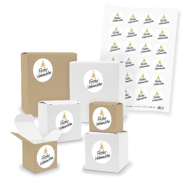 itenga SET 24x Geschenkboxen Quader Würfel gemischt + St...