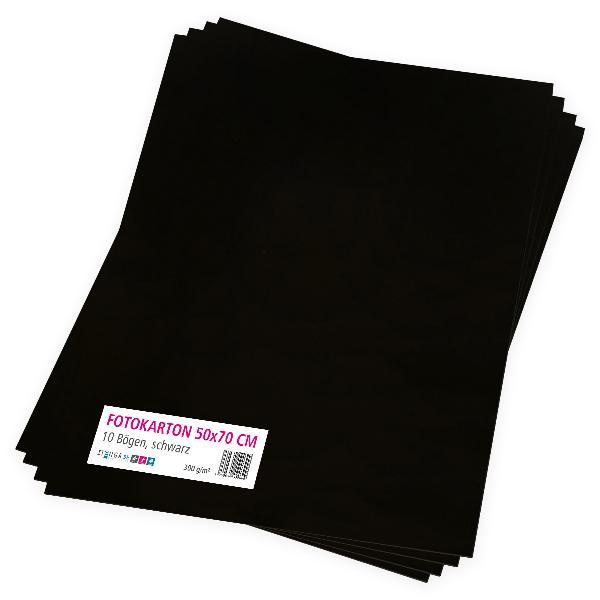 itenga Fotokarton schwarz - 50x70cm 300g/m² 10 Bogen