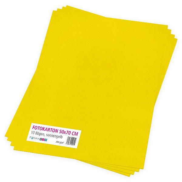 itenga Fotokarton sonnengelb - 50x70cm 300g/m² 10 Bogen