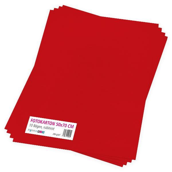 itenga Fotokarton rubinrot - 50x70cm 300g/m² 10 Bogen