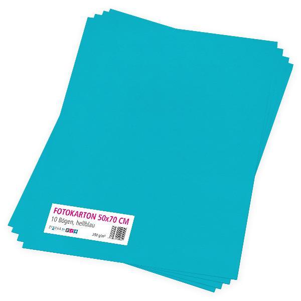 itenga Fotokarton hellblau - 50x70cm 300g/m² 10 Bogen