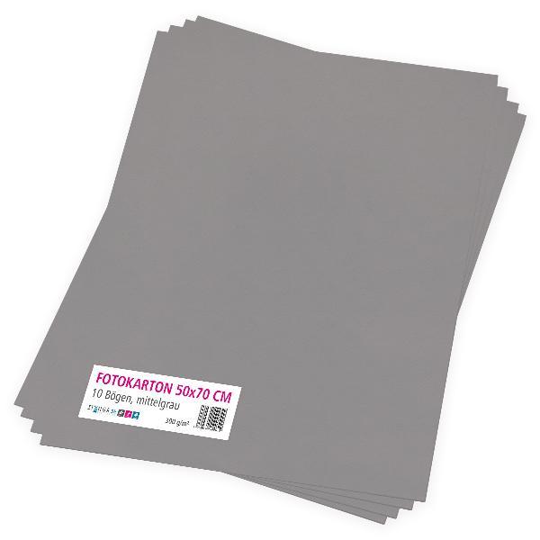 itenga Fotokarton mittelgrau - 50x70cm 300g/m² 10 Bogen