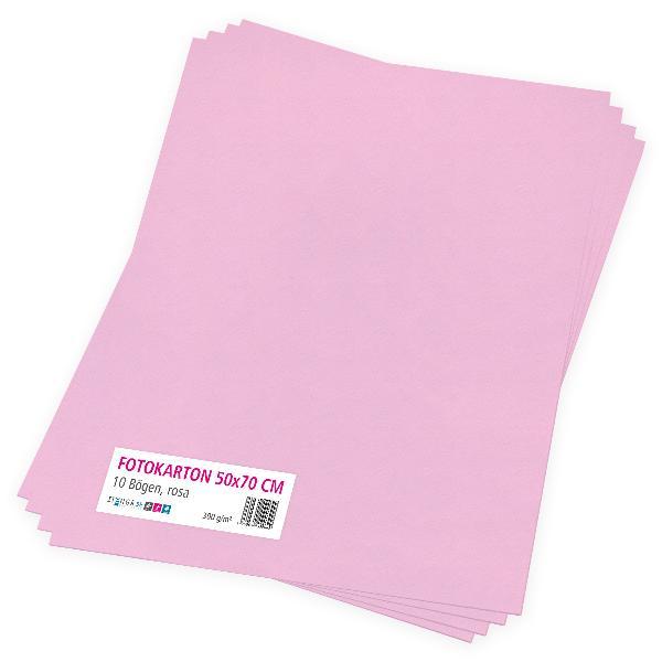itenga Fotokarton rosa - 50x70cm 300g/m² 10 Bogen