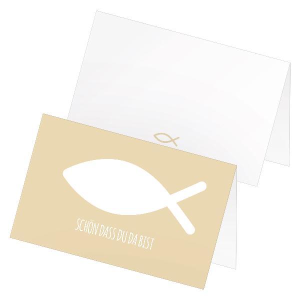 itenga 24x Tischkarte Platzkarte Kommunion Taufe Konfirm...