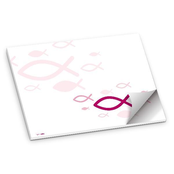 itenga Platzset Tischset Kommunion Taufe Fisch pink DI...