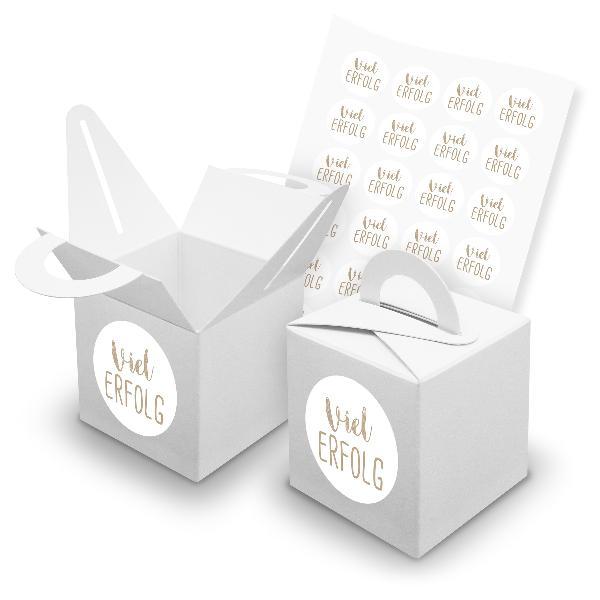 itenga SET 24x Würfelboxen mit Griff Weiß (V42) + Motivs...