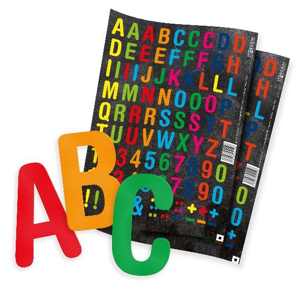 itenga 2x Stickerbogen Alphabet (Motiv 170) - 95 Buchs...