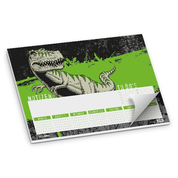itenga Schreibtischunterlage T-Rex, 50 Blatt Papier, DIN A3