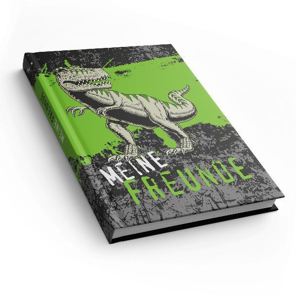 itenga Freundebuch T-Rex DIN A5, 88 Seiten 150g Naturpapier