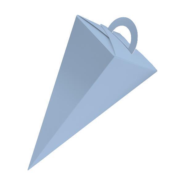 25x itenga Geschenktüte Schultüte mit Griff 21 cm, Eisblau