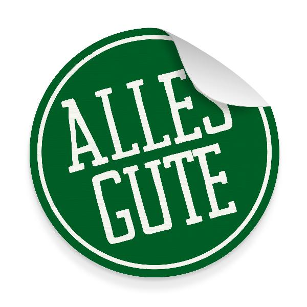 itenga 10x Aufkleber Sticker Alles Gute grün weiß 9,5 ...