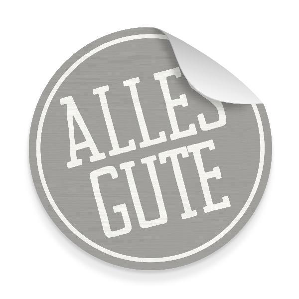 itenga 10x Aufkleber Sticker Alles Gute grau weiß 9,5 ...