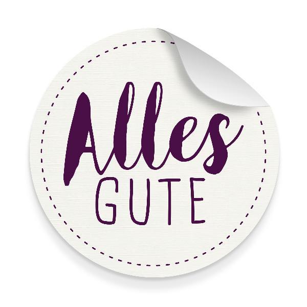 itenga 10x Aufkleber Sticker Alles Gute weiß lila 9,5 ...